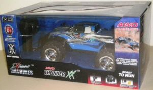 Extreme Machines AWD Thunder XX Blue Radio Control Car Gun Type