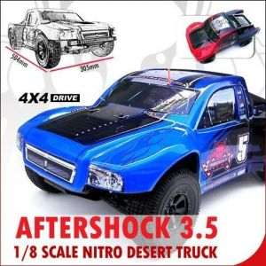 Redcat Racing Aftershock 3.5cc Nitro Desert Truck, Blue/Black,